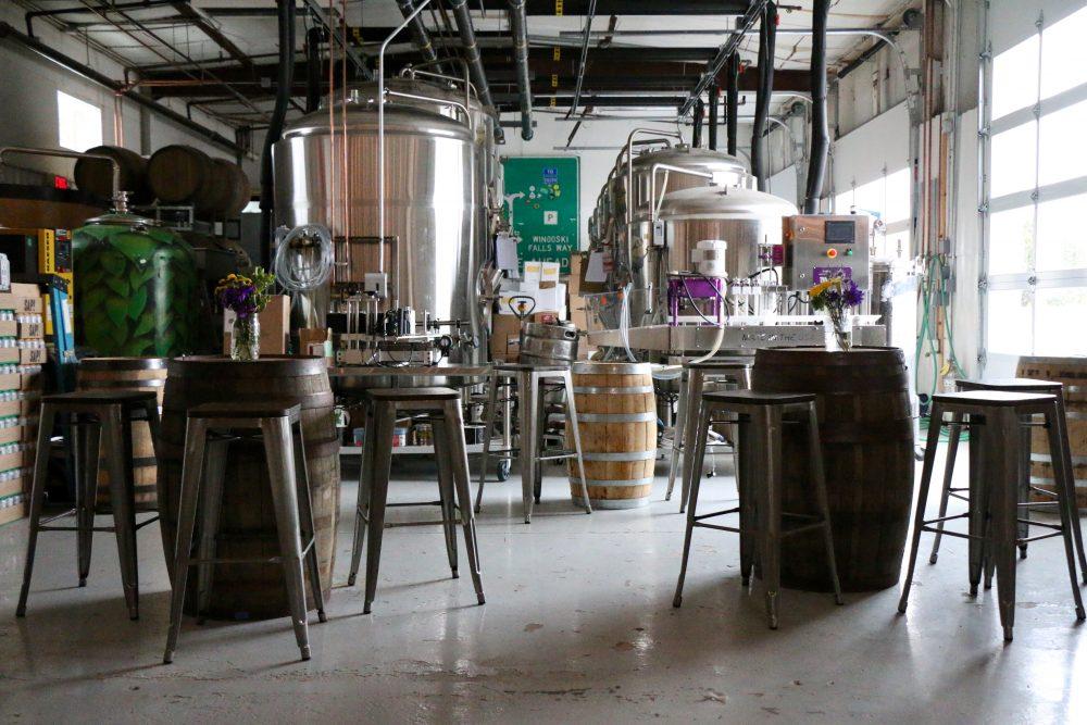 Interior of Four Quarters Brewery