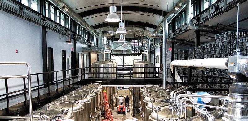 Interior of the Alchemist Brewery